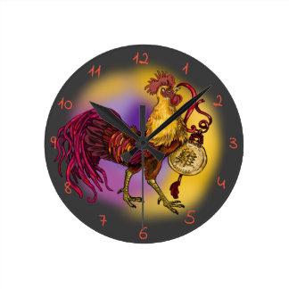 Relógio Redondo Ano do galo