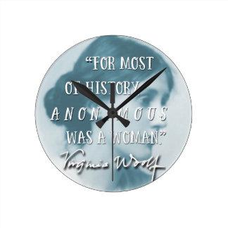 Relógio Redondo Anónimo era um azul das citações de Virgínia Woolf