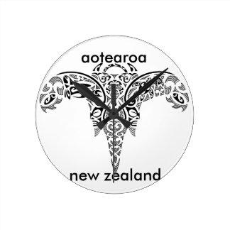 Relógio Redondo aotearoa Nova Zelândia 7