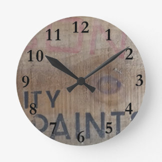 Relógio Redondo aotearoa velho Nova Zelândia da caixa da pintura