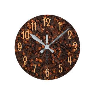 Relógio Redondo Apenas cravos-da-índia, lotes do fundo dos