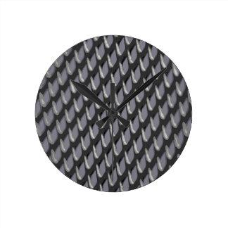 Relógio Redondo Apenas urze do vetor da grelha