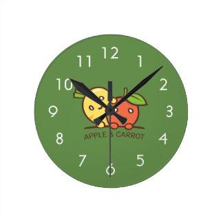 Relógio Redondo Apple e cenoura