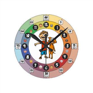 Relógio Redondo Aprendendo o pulso de disparo para jovens