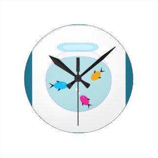 Relógio Redondo aquário