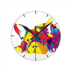 18251df5506 Relógio Redondo Arco-íris bulldog Francês