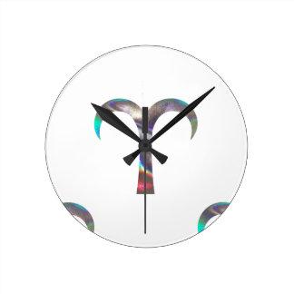 Relógio Redondo Aries do holograma