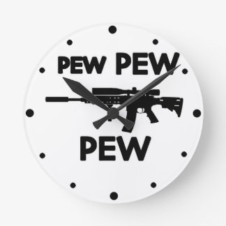Relógio Redondo Arma do banco do banco