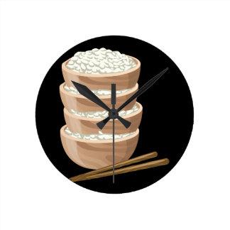 Relógio Redondo Arroz apropriado da comida do pulso aleatório