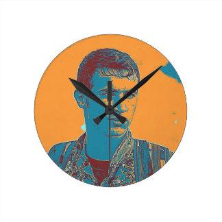 Relógio Redondo Arte curdo do lutador de YPG