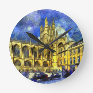Relógio Redondo Arte da abadia do banho