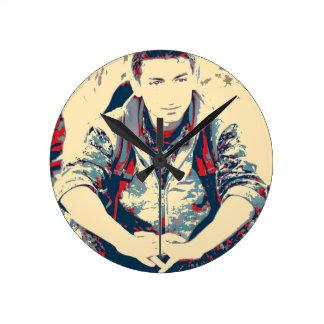 Relógio Redondo Arte do soldado 3 de YPG