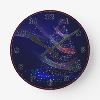 Relógio Redondo Árvore azul bonita