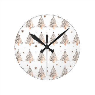 Relógio Redondo Árvore de Natal - teste padrão