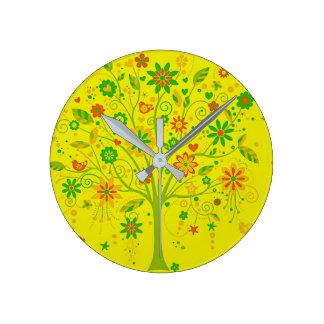 Relógio Redondo Árvore do pulso de disparo da vida