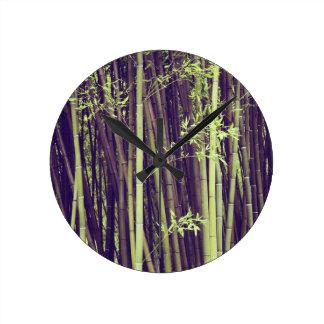 Relógio Redondo Árvores de bambu