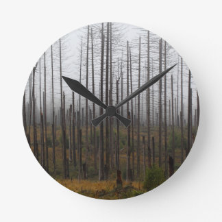 Relógio Redondo Árvores spruce da morte