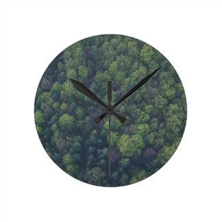 Relógio Redondo Árvores verdes