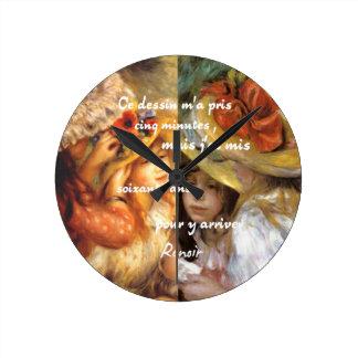 Relógio Redondo As pinturas de Renoir são abundância do amor