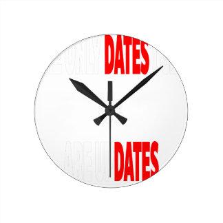 Relógio Redondo As únicas datas onde eu obtenho são actualizações