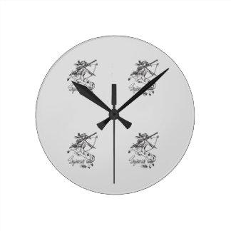 Relógio Redondo Astrologia da caída do pulso de disparo de parede