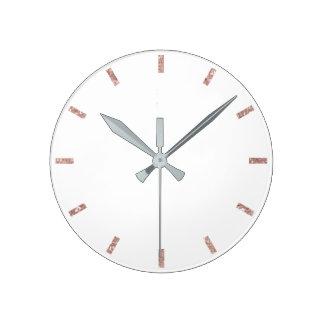 Relógio Redondo Aumentou coram brilho mínimo delicado branco