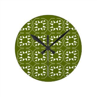 Relógio Redondo Azeitonas Ethno dos elementos do design