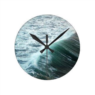 Relógio Redondo Azul de Oceano Pacífico