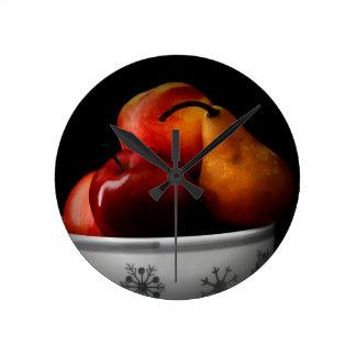 Relógio Redondo Bacia de /Fruit