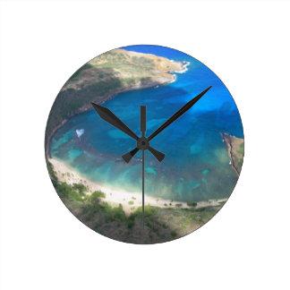 Relógio Redondo Baía Havaí de Hanauma