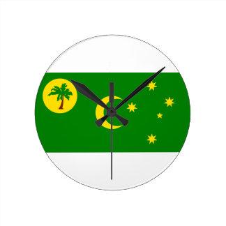 Relógio Redondo Baixo custo! Bandeira da ilha de Cocos