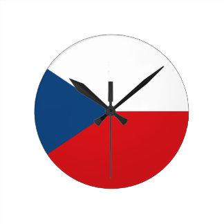 Relógio Redondo Baixo custo! Bandeira da república checa