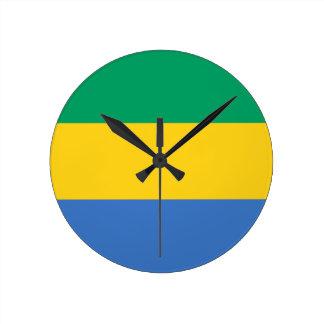 Relógio Redondo Baixo custo! Bandeira de Gabon