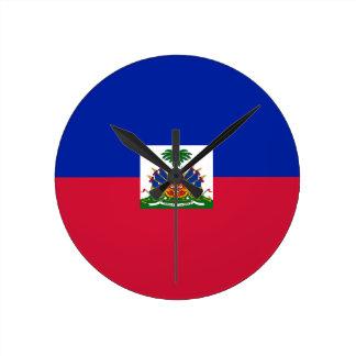 Relógio Redondo Baixo custo! Bandeira de Haiti