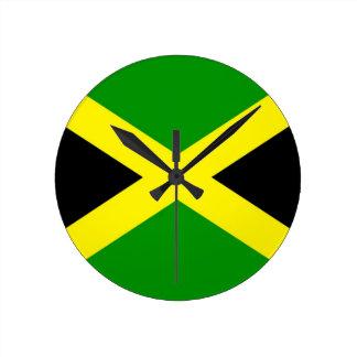 Relógio Redondo Baixo custo! Bandeira de Jamaica