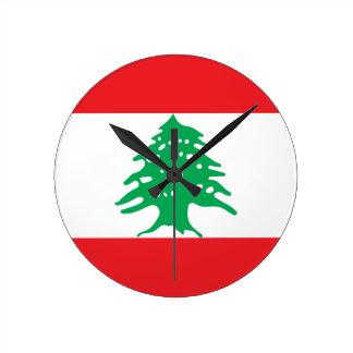 Relógio Redondo Baixo custo! Bandeira de Líbano