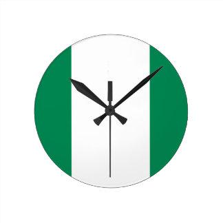 Relógio Redondo Baixo custo! Bandeira de Nigéria