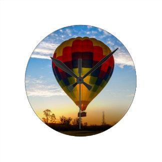 Relógio Redondo Balão de ar quente