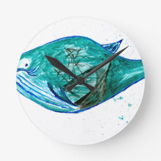 Relógio Redondo Baleia bonito Art2