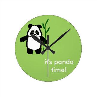Relógio Redondo Bambu o pulso de disparo do tempo da panda da