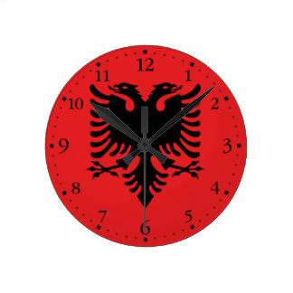 Relógio Redondo Bandeira albanesa patriótica