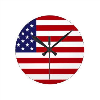 Relógio Redondo Bandeira americana - bandeira dos Estados Unidos -