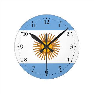 Relógio Redondo Bandeira argentina patriótica