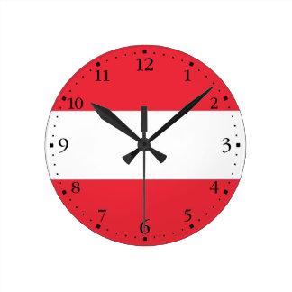 Relógio Redondo Bandeira austríaca patriótica