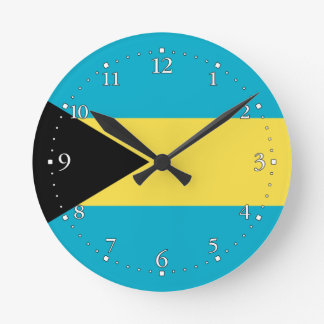 Relógio Redondo Bandeira baamiana patriótica