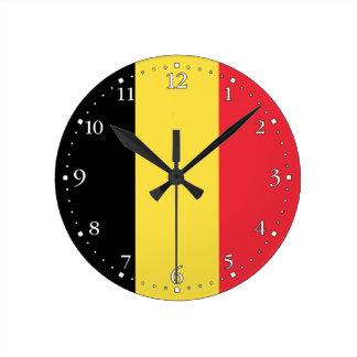 Relógio Redondo Bandeira belga patriótica