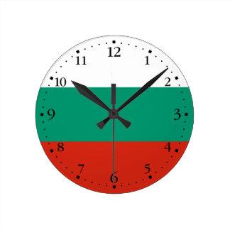 Relógio Redondo Bandeira búlgara patriótica