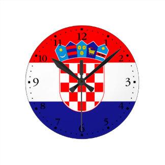 Relógio Redondo Bandeira croata patriótica