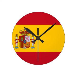 Relógio Redondo Bandeira da espanha - Bandera de España - bandeira