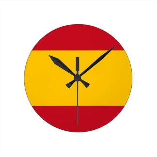 Relógio Redondo Bandeira da espanha, Bandera de España, bandera